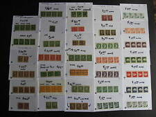 CANADA 34 different interesting MNH/MH coil strips,pairs,singles check them out!