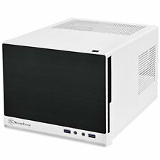 SilverStone Mini-DTX Small Form Factor Computer Case SG13WB-Q Black/White NEW