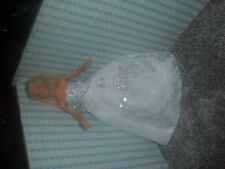 Handmade White Party Gown/ Wedding Dress Clothes for Barbie Doll