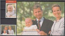 Belgium**King Philippe& Mathilde-Sheet+Stamp+Princess Elisabeth-Royalty-2002-MNH