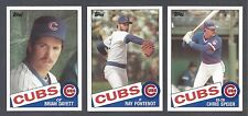 Chicago Cubs 1985 Topps Traded team set - Brian Dayett, Chris Speier, Fontenot