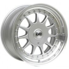 "16x8 Silver 16"" ESM-003R Wheels  5x112 VW Audi Mercedes Golf Jetta"