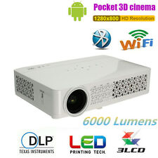 6000Lumens 4K 1080P WIFI 3D DLP Android Home Theater Projector Multimedia HDMI