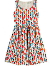 GORGEOUS CATH KIDSTON LONDON GUARDS & FRIENDS SLEEVELESS SLUB DRESS - 14 - BNWT!
