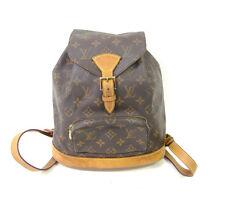 Authentic LOUIS VUITTON Montsouris MM Monogram Backpack Canvas Brown 644 *