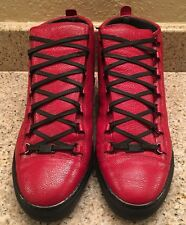 Balenciaga Arena High Top Sneaker Size 47 RED LEATHER STINGRAY