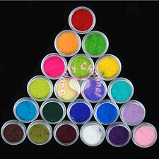 UK 25 Color Nail Art Acrylic Velvet Flocking Liquid Glitter Powder Dust Deco Kit
