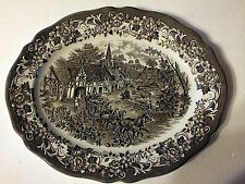 J & G Meakin Royal Staffordshire Serving plate Stratford Stage Brown