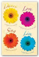 INSPIRATIONAL POSTER Dance Love Sing Live