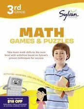 Third Grade Math Games & Puzzles (Sylvan Workbooks) (Math Workbooks) Sylvan 3rd