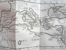 COLONIES PHENICIENNES CARTE GRAVURE originale PLUCHE SPECTACLE de LA NATURE 1729