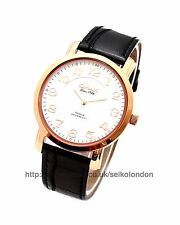 Omax Unisex White Dial Watch, Rose Gold Finish, Seiko (Japan) Movt. RRP £49.99