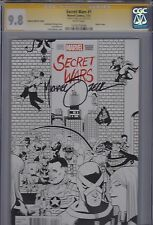 Secret Wars #1 Zdarsky Variant Sketch Cover (Marvel 07/15) Sig. Series CGC 9.8