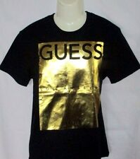 MENS GUESS BLACK/GOLD T-SHIRT SIZE XL