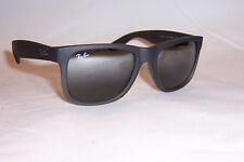New RAY BAN Sunglasses JUSTIN 4165 852/88 RUBBER GREY/SILVER MIRROR 51mm
