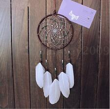 50cm Indian Dream Catcher Handmade Feather Bead Hanging Ornament Decor Gift