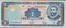 Nicaragua  1 Cordoba  1995 Series B  P 179 Uncirculated Banknote