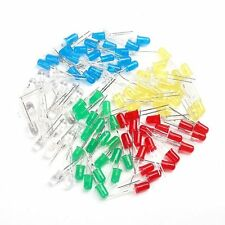 5mm LED Light White Yellow Red Green Blue Assorted Kit DIY LEDs Set 100Pcs Rt