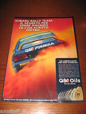*AI24=SUBARU RALLY TEAM Q8 OILS=PUBBLICITA'=ADVERTISING=WERBUNG=COUPURE=