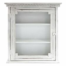Wall Mounted Bathroom Cabinets Curio With Glass Door Modern Storage White Rustic