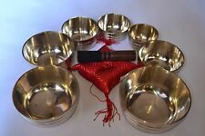 SET OF 7 Chakra Healing Tibetan Singing Bowl - Meditation Yoga From Nepal