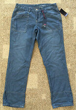 Junior Womens Girls Size 11 Tommy Girl Roll Up Blue Jeans Crop Pants TA12-2806