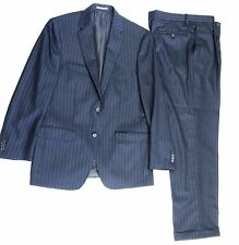 NEW $795 Peter Millar Men's Navy Twill Chalk Stripe Wool 2PC Two-Button Suit 40R