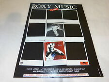 ROXY MUSIC - BRIAN FERRY !!!!FRENCH!!PUBLICITE / ADVERT
