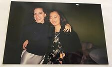 Vintage 90s PHOTO Cute Jewish Girl w/ Asian Friend w/ Disposable Camera