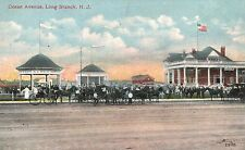 Long Branch,New Jersey,Ocean Ave.Horse Drawn Wagons,Monmouth County,c.1909