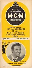 MGM RECORD CATALOGUE SUPPLEMENT 83 june 1956 alan dean/don gibson/leroy holmes