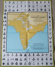 WW2 British Indian Army Raj India Cap Badges Reference Guide Poster Book 1939-47
