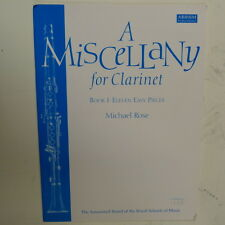 clarinet A MISCELLANY for Clarinet Book 1, Michael Rose, abrsm