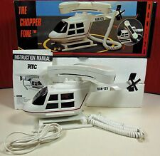 Rare Vtg. RTC RON-125 Chopper Fone Helicopter Desk Telephone/Phone, Ships Free !