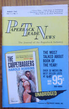 Paperback Trade News March 1962 FIRST ISSUE Harold Robbins Carpetbaggers
