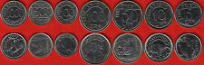 "Brazil set of 7 coins: 5 - 1000 cruzeiros 1992-1994 ""Animals"" UNC"