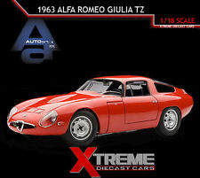 AUTOART 70196 1:18 1963 ALFA ROMEO GIULIA TZ RED SUPERCAR DIECAST MODEL CAR