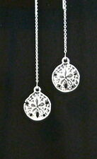 SILVER sp SAND DOLLARS STERLING SILVER Ear Threads Threader Earrings