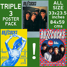 Buzzcocks - Set of 3 Posters Size 84.1cm x 59.4cm - 33 in x 24 in **PUNK**