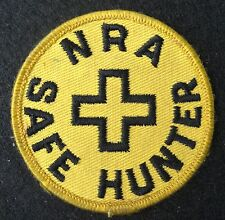 NRA SAFE HUNTER EMBROIDERED SEW ON ONLY PATCH RIFFLE GUNS AMMUNITION COMPANY