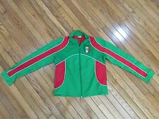 NWOT Mexico Women's Green / Red Windbreaker Zip Up Jacket Size S New