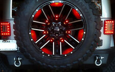 Jeep Wrangler Third Brake Light-genII design- LED & Powder Coated Steel Disc