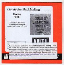 (GL152) Christopher Paul Stelling, Horse - 2015 DJ CD