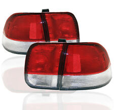 1996-98 HONDA CIVIC 4DR SEDAN CH DX EX LX GX REAR TAIL LIGHTS LAMP RED/CLEAR L+R