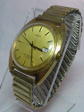 Vintage 1976 Timex Men's Mechanical Watch With Day-Working
