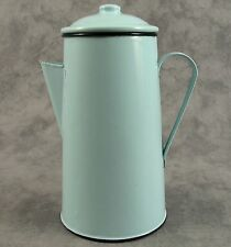 FRENCH COUNTRY SEAFOAM GREEN ENAMEL METAL COFFEE POT ~ 42 OUNCE ~ ENAMELWARE ~