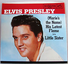 Elvis Presley Marie's The Name His Latest Flame / Little Sister 45 & PS **Mint**
