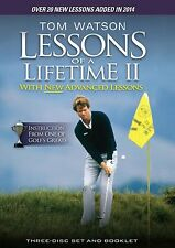 Tom Watson: More Golf Lessons of a Lifetime I + II 3er [DVD] NEU 1 + 2 2014