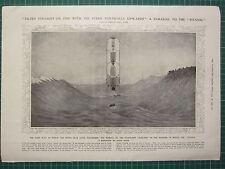 ORIGINAL 1912 TITANIC ILN PRINT/PAGE WHITE STAR LINER HASLAND SIMILAR SINKING