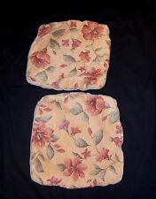 2 X LARGE GOLD  FLORAL Tapestry Style  Cushion Covers 18'' X 19''